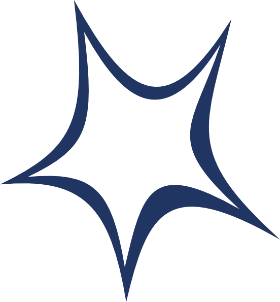 Dark Blue Star of David svg
