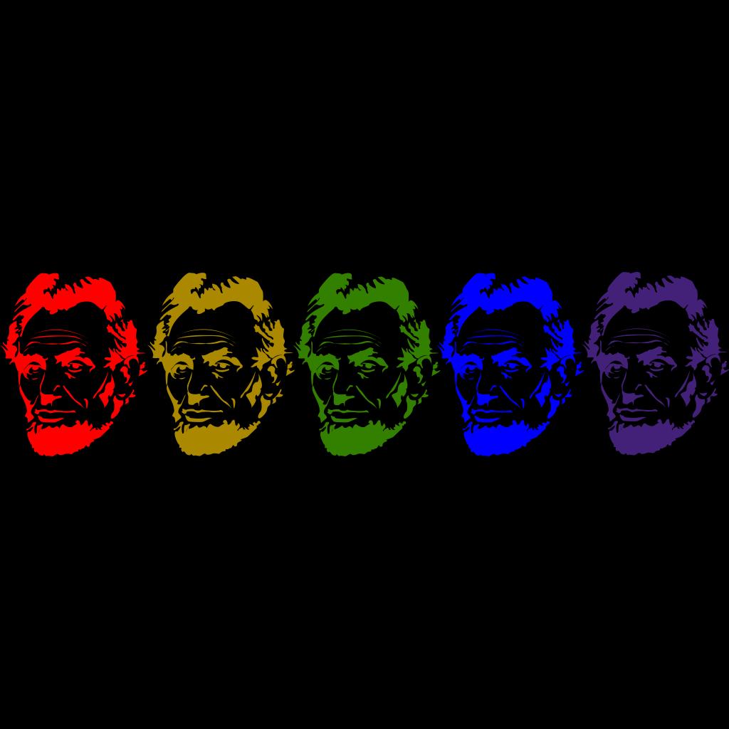 Rainbow Lincoln SVG Clip arts