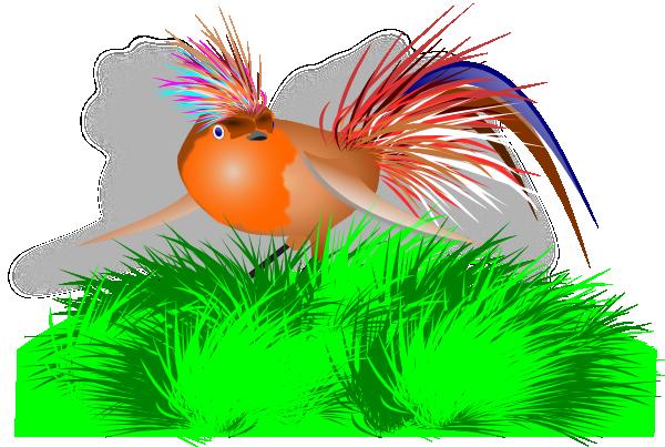 Colorful Bird SVG Clip arts