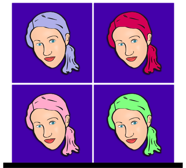 Woman With Pony Tail SVG Clip arts