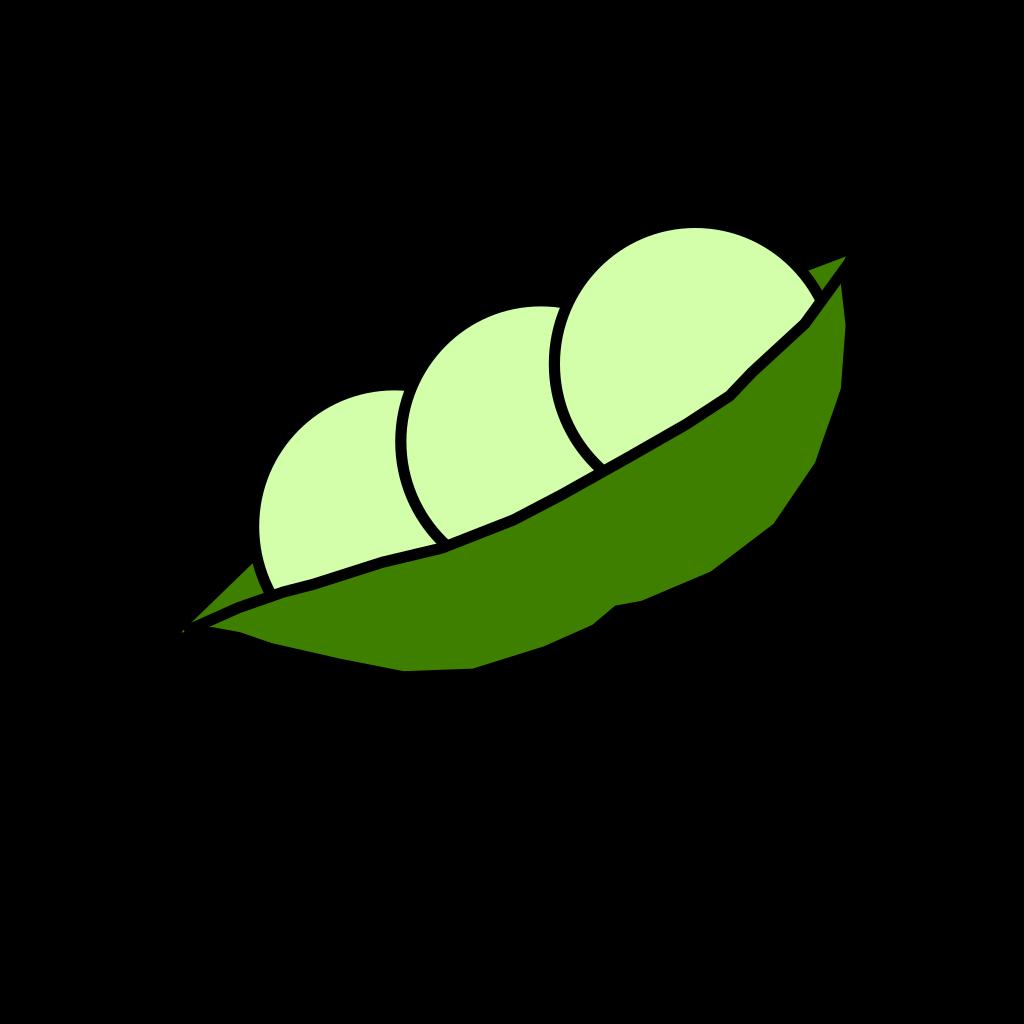Pea Pod SVG Clip arts