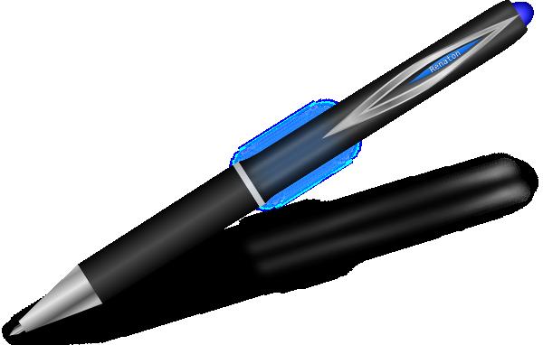 Silver And Blue Pen SVG Clip arts