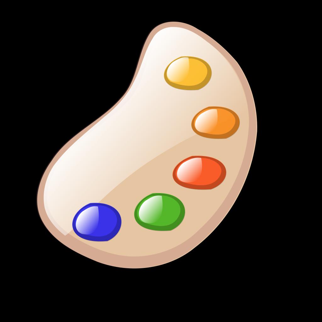 Paint Palette SVG Clip arts