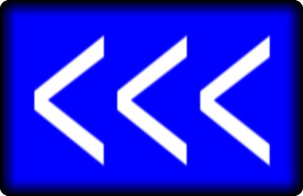 Arrows To Left(blue) SVG Clip arts