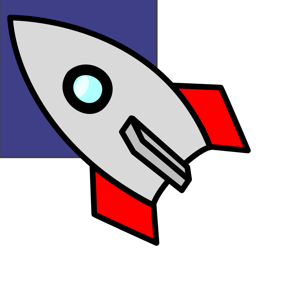 Rocket In Blue-sky SVG Clip arts
