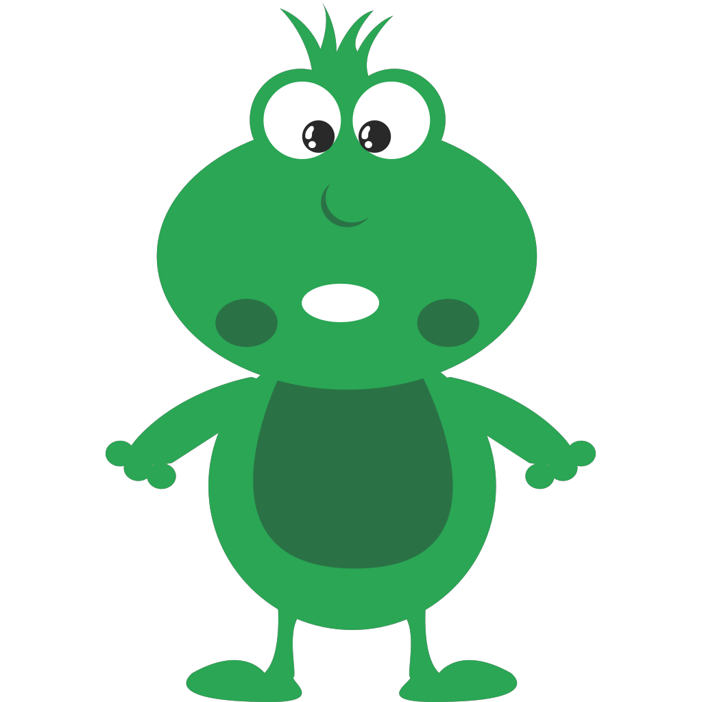 Green Frog Cartoon svg