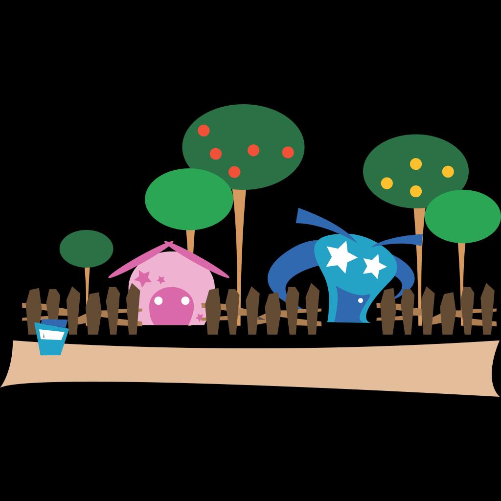Cartoon Village SVG Clip arts