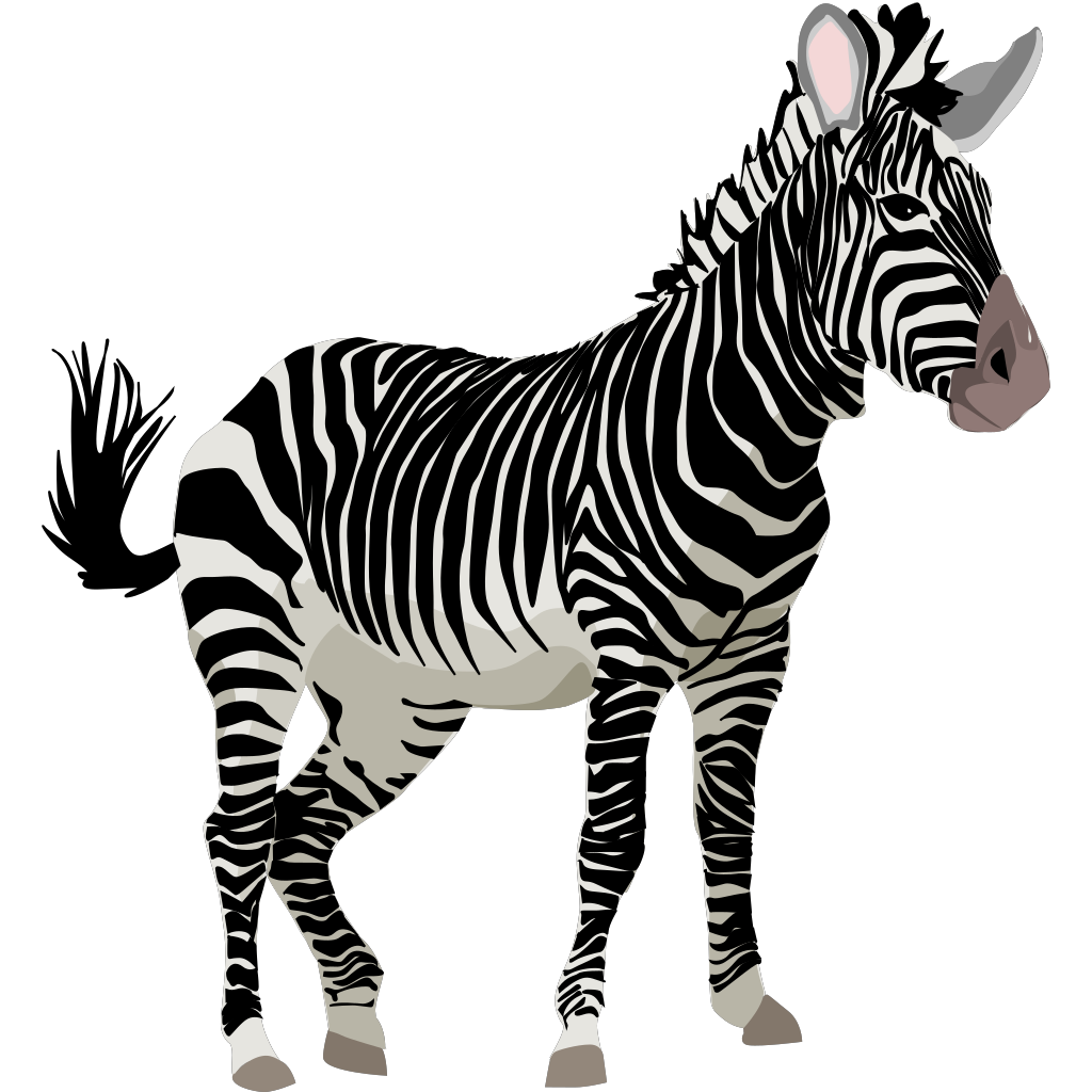 Zebra 3 SVG Clip arts
