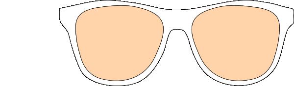 Line Art Elephant In Glasses SVG Clip arts