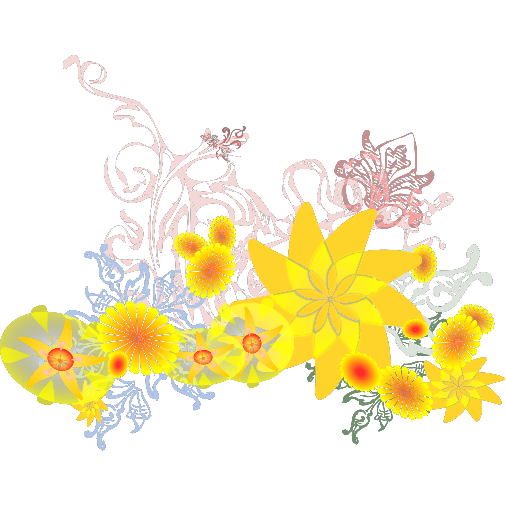 Flourishing Flowers SVG Clip arts