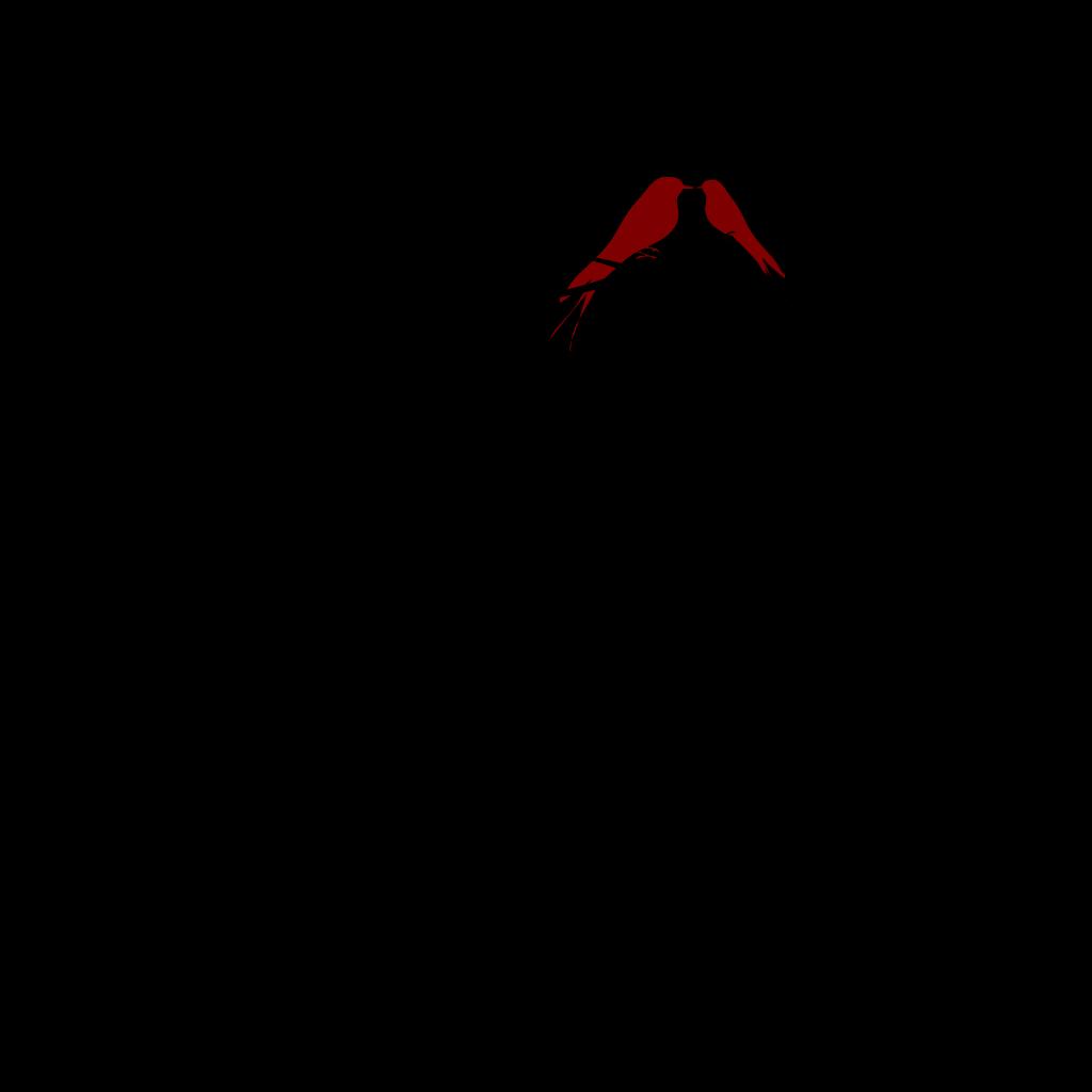 Red Love Birds SVG Clip arts