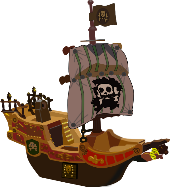 Pirate Ship SVG Clip arts