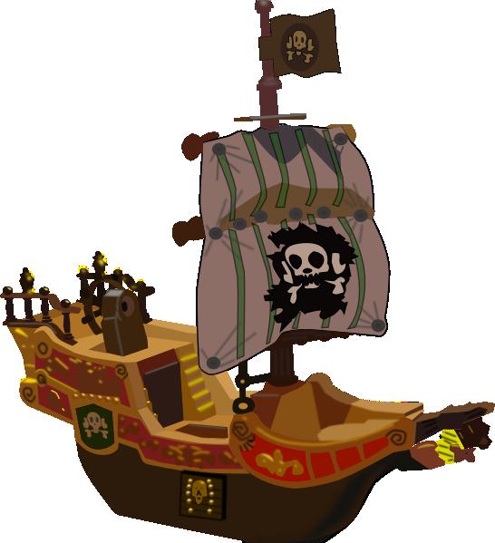 Pirate Ship SVG Clip arts