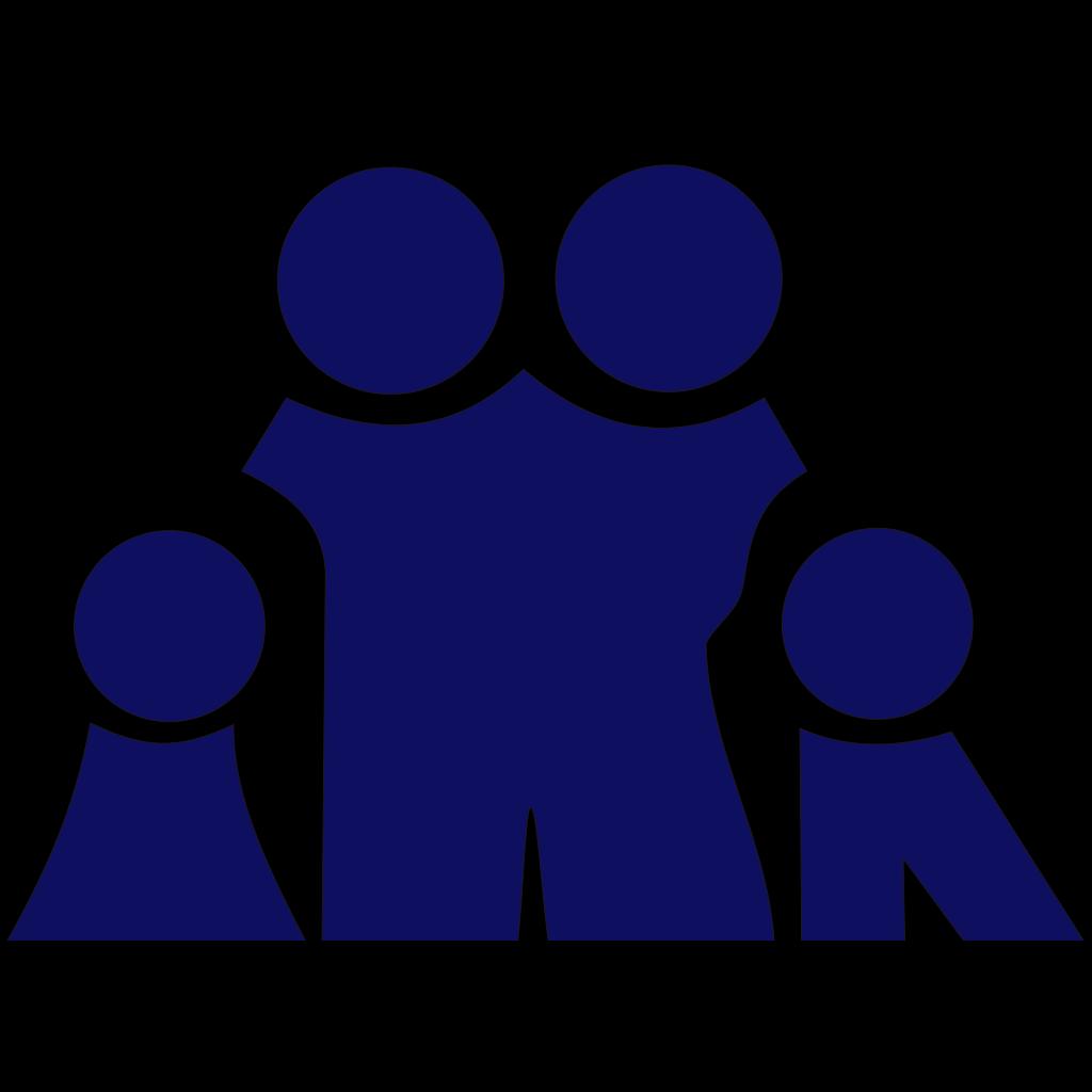 Blue Family SVG Clip arts