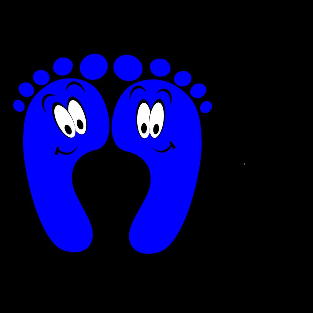 Blue Happy Feet SVG Clip arts
