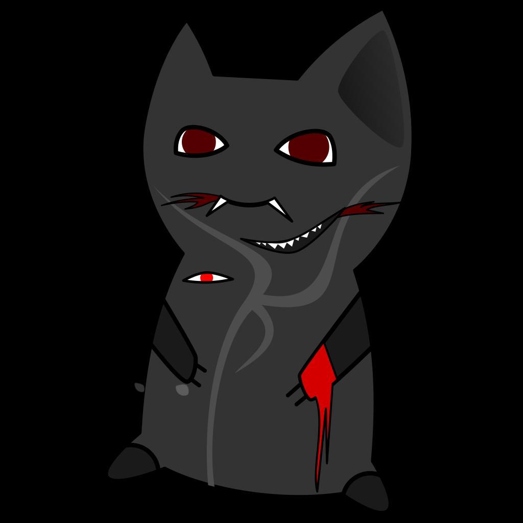 Monster Cat SVG Clip arts