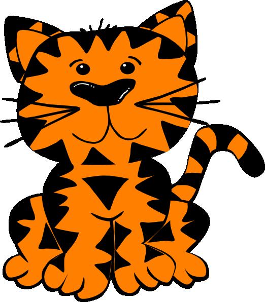 B W Tiger SVG Clip arts