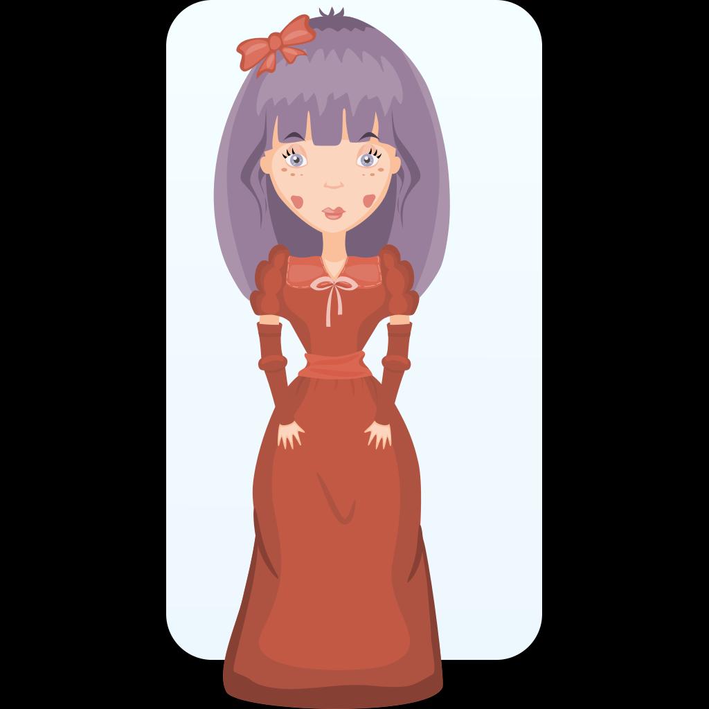 Victorian Girl SVG Clip arts