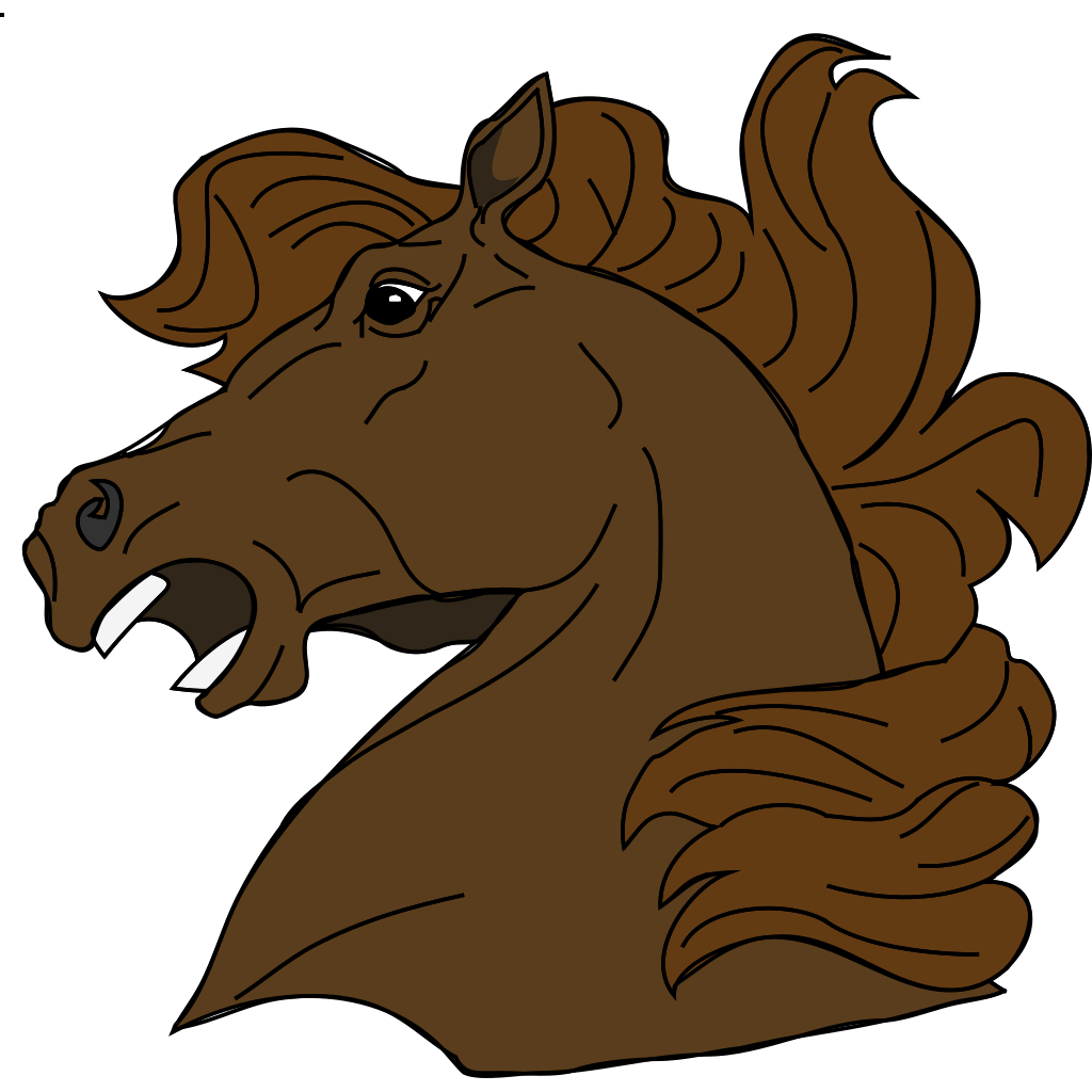 Angry Horse SVG Clip arts