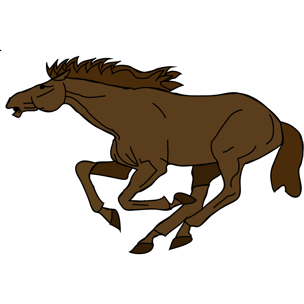 Running Horse 3 SVG Clip arts