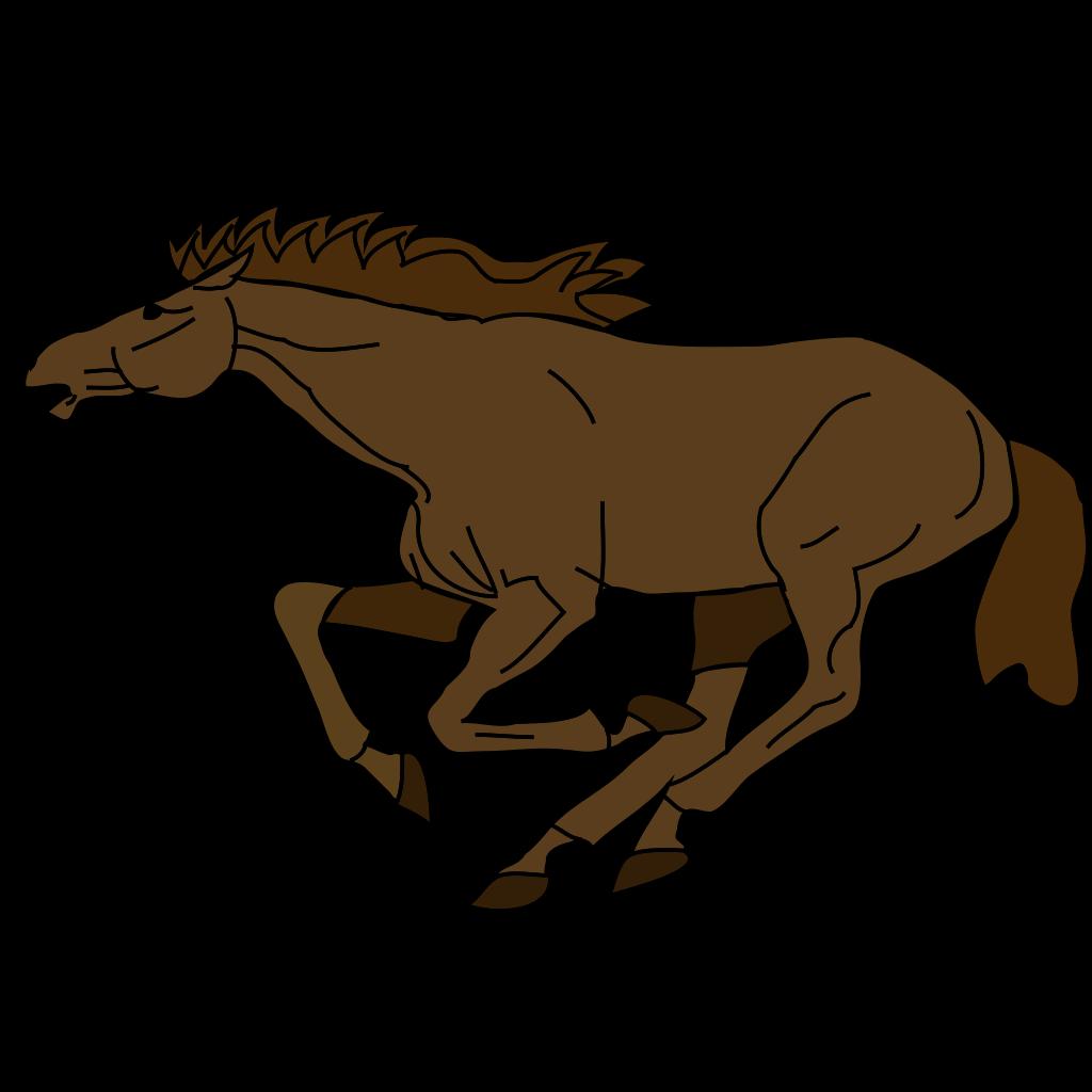 Running Horse 3 SVG Clip arts