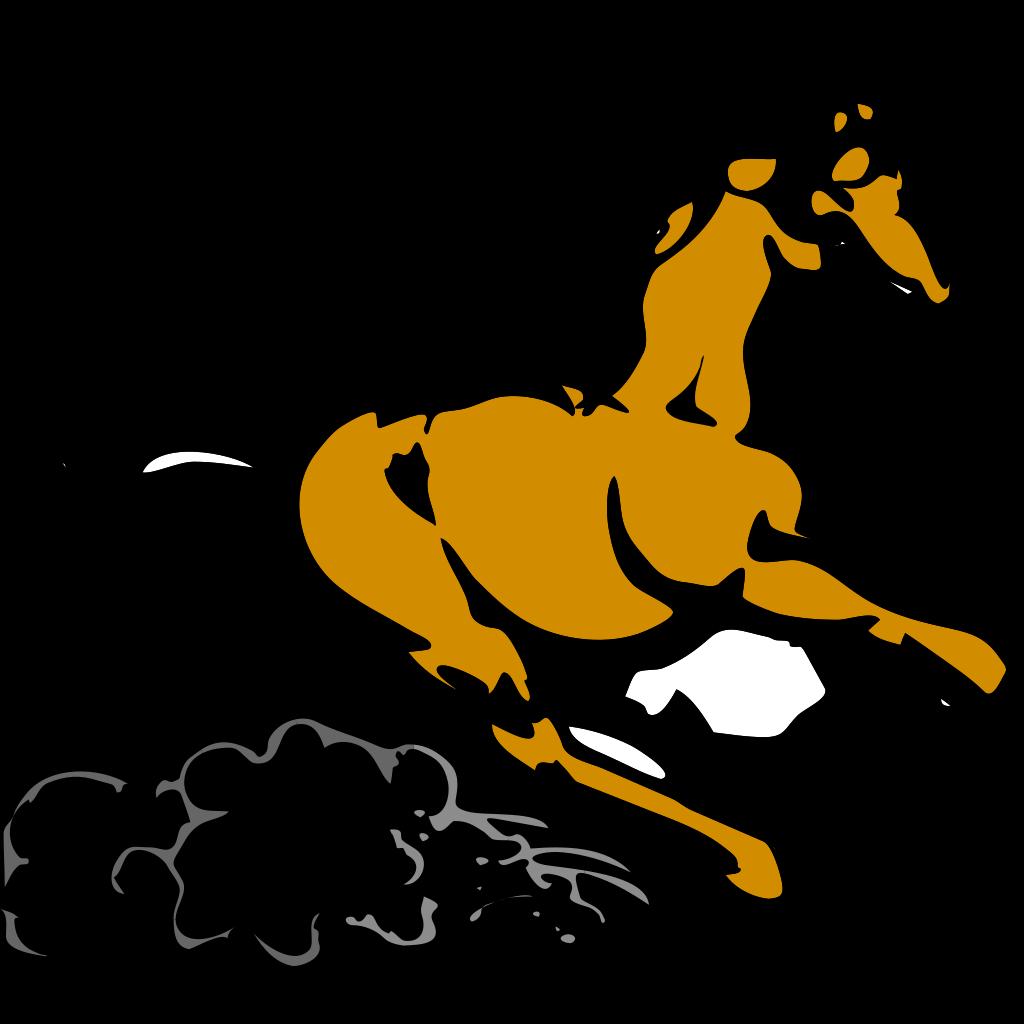 Running Horse 4 SVG Clip arts