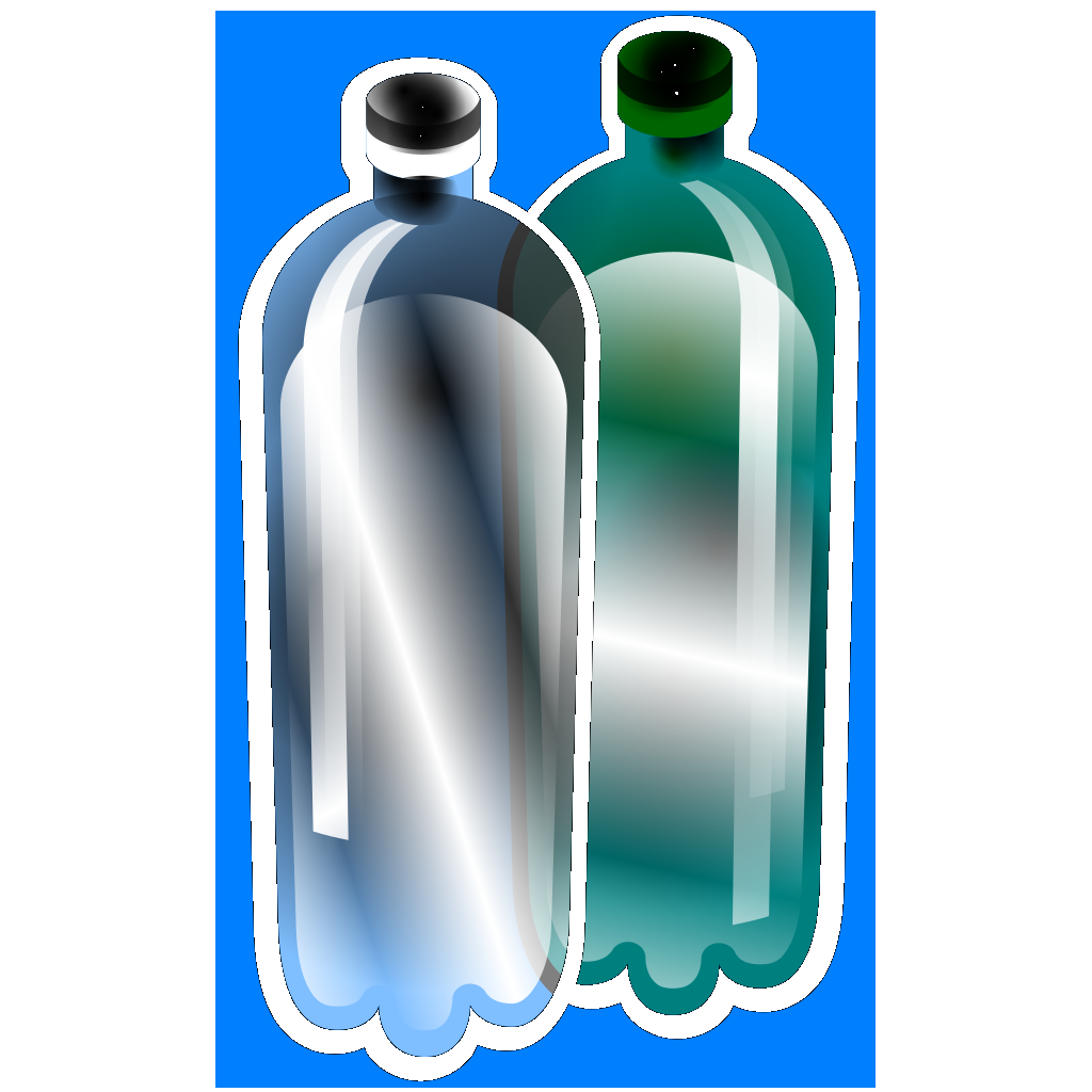 Litter Plastic Bottles SVG Clip arts