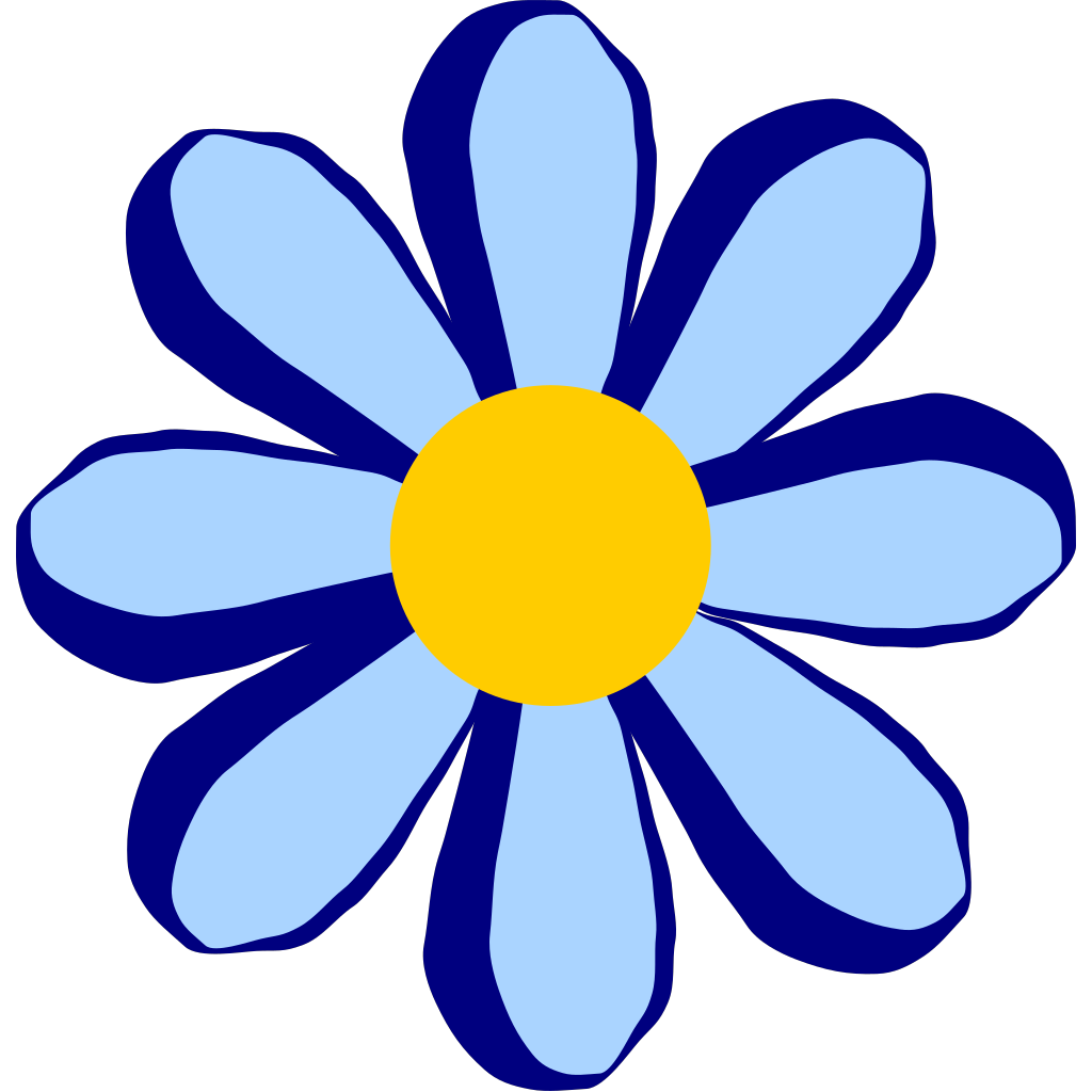 Blue Flower svg