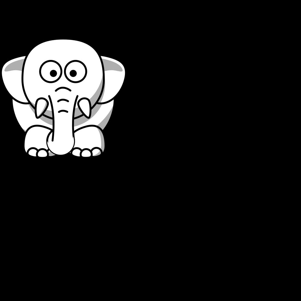 Cartoon Elephant Clip Art SVG Clip arts