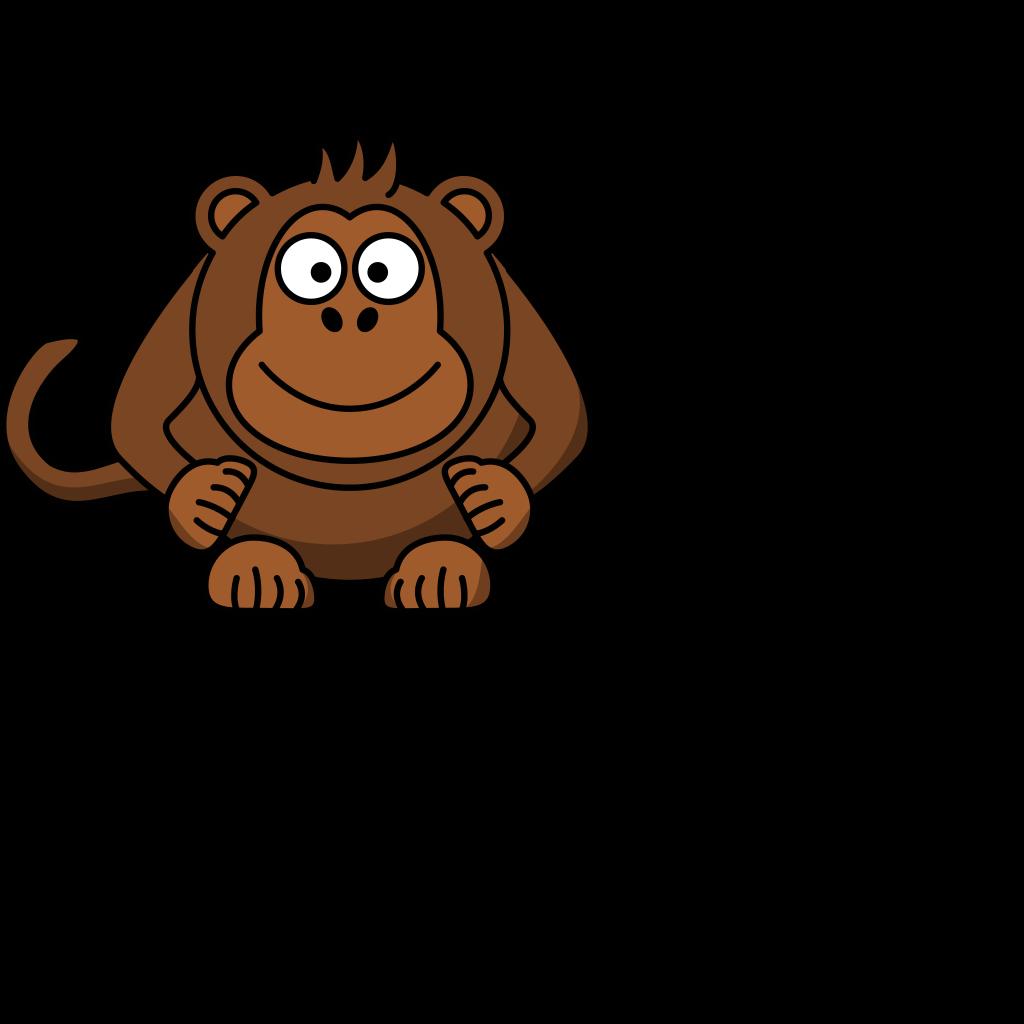 Cartoon Monkey Clip Art SVG Clip arts