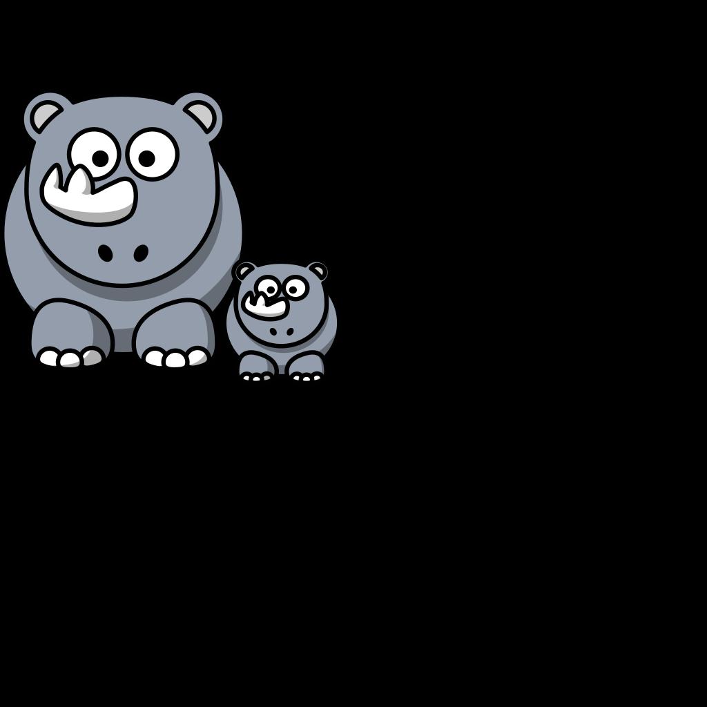 Rhino Baby Clip Art SVG Clip arts