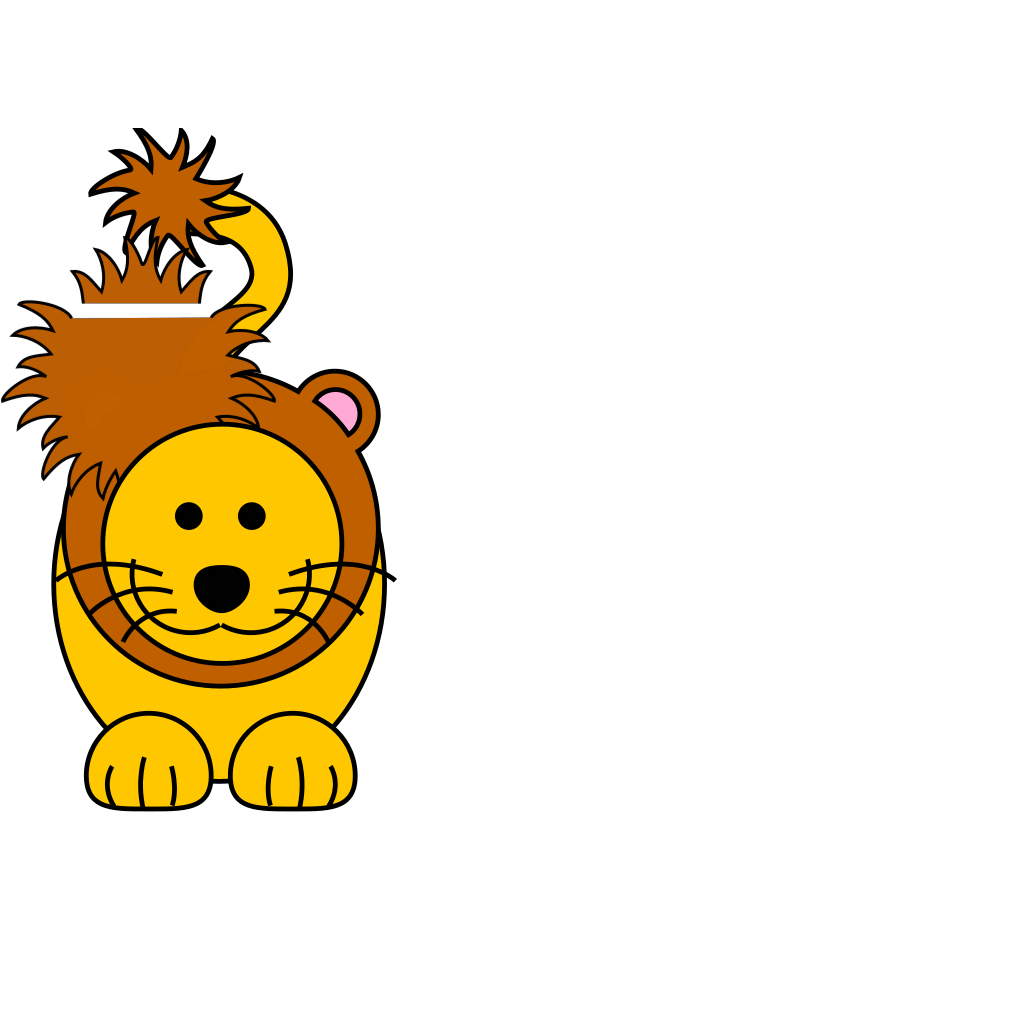 Cartoon Golden Lion SVG Clip arts