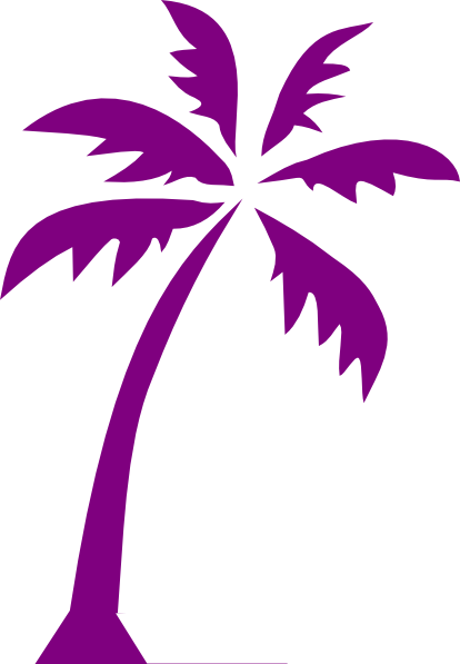 Tropical Beach Palm Tree Clip Art SVG Clip arts
