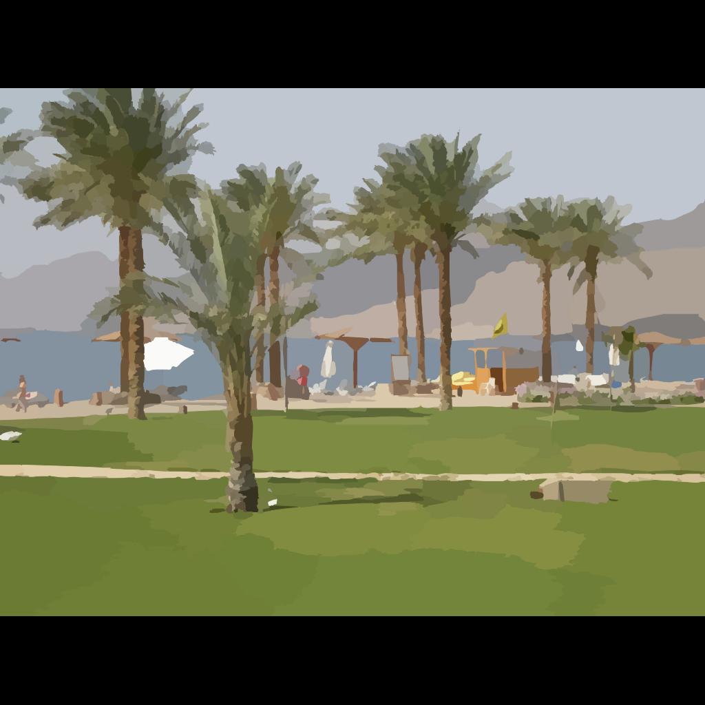 Double Palm Beach SVG Clip arts
