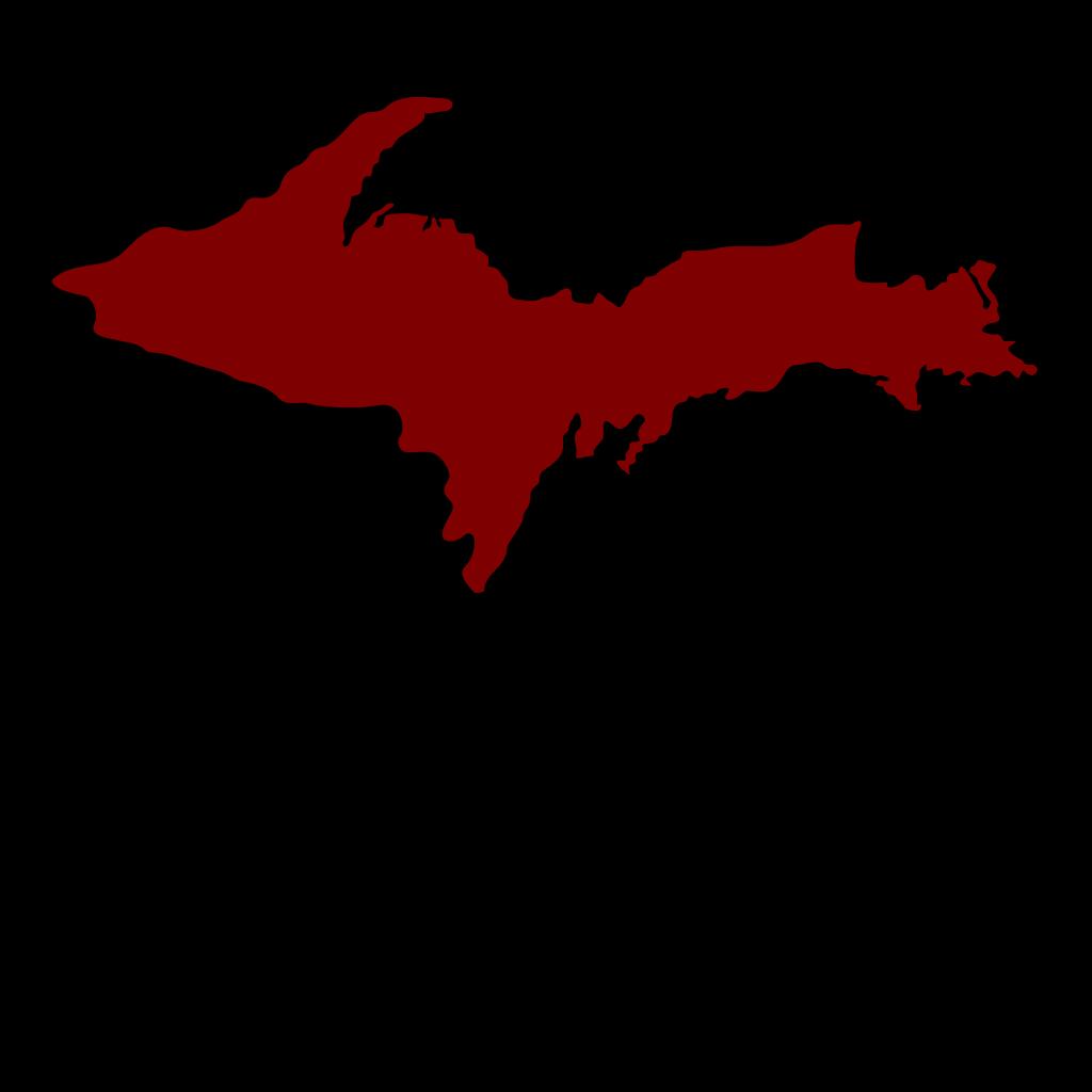 Michigan Upper Peninsula-red SVG Clip arts