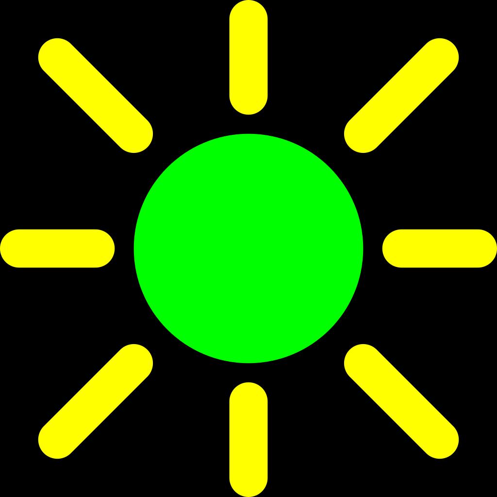 Brightness Control Icon SVG Clip arts