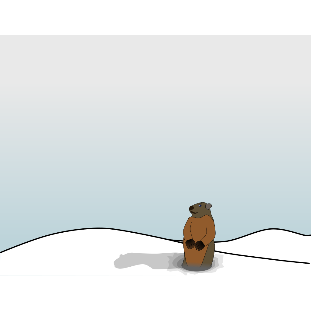 Groundhog SVG Clip arts
