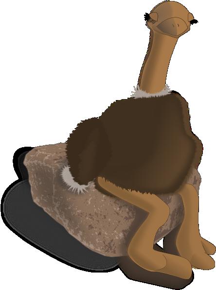 Ostrich SVG Clip arts