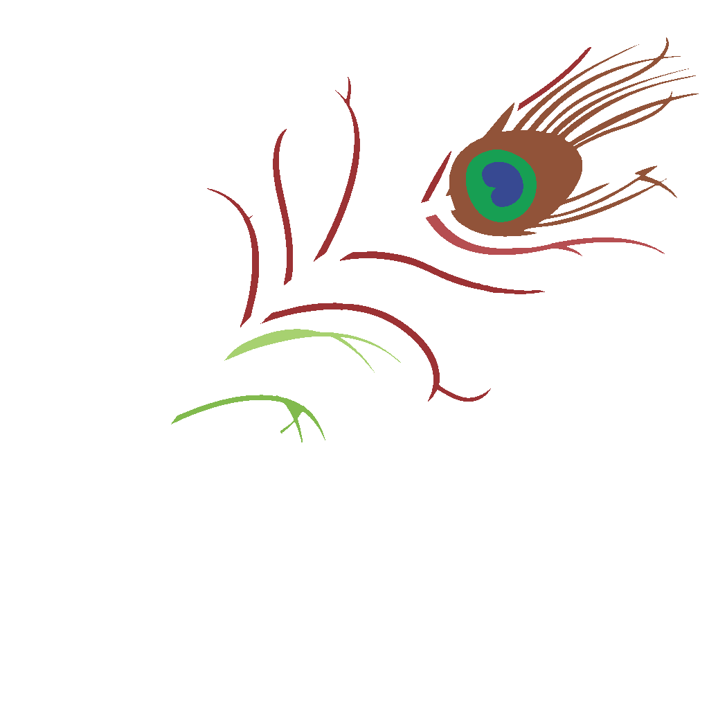 Peacock Feather SVG Clip arts