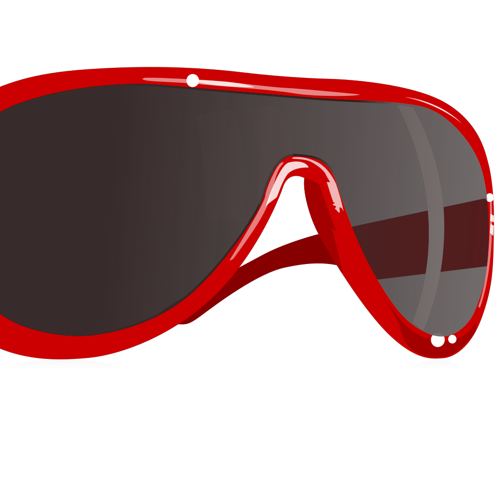 Cartoon Sunglasses SVG Clip arts