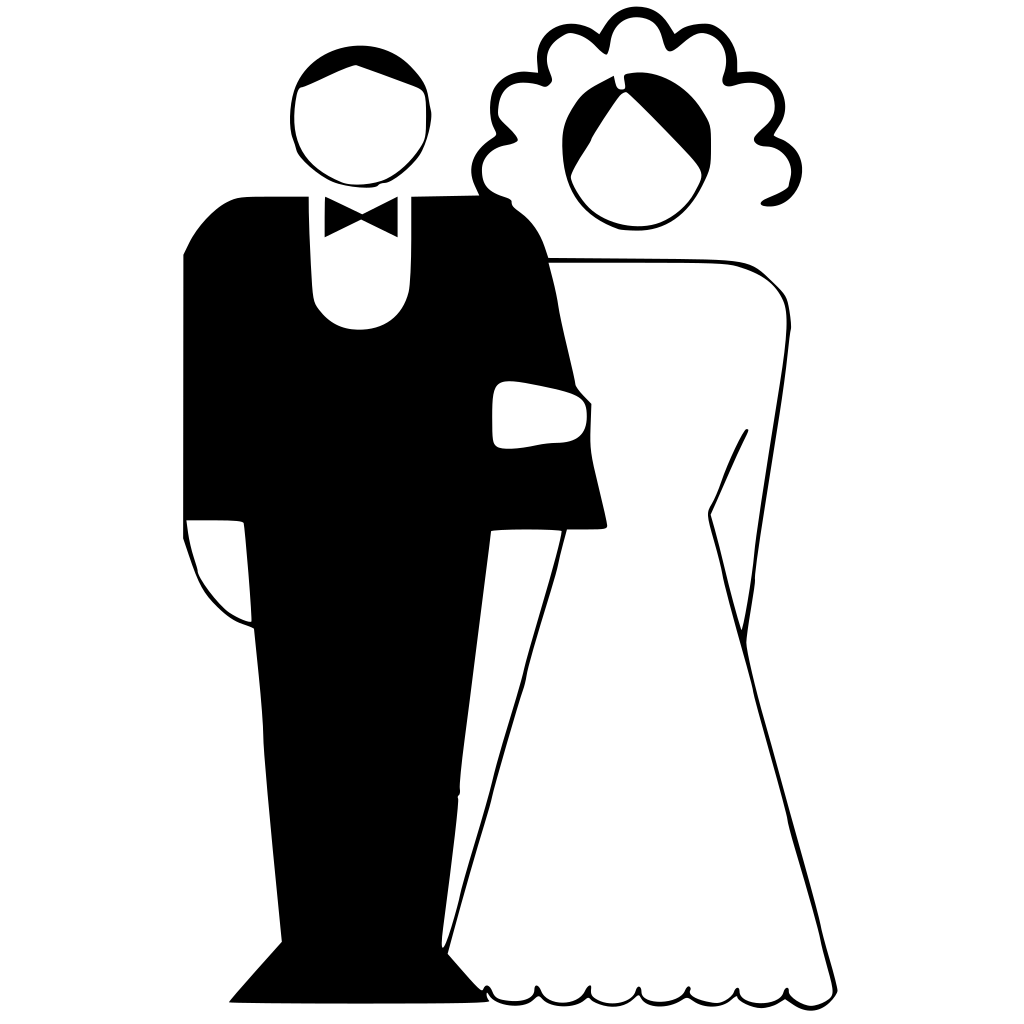 Kattekrab Bride And Groom SVG Clip arts