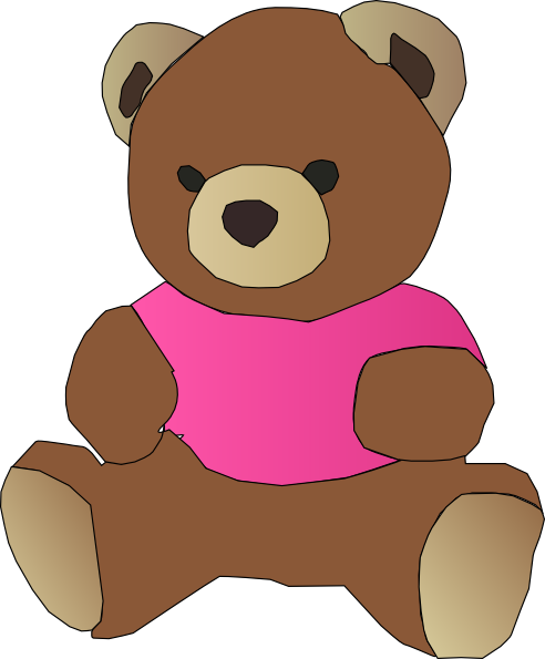 Stylized Teddy Bear SVG Clip arts