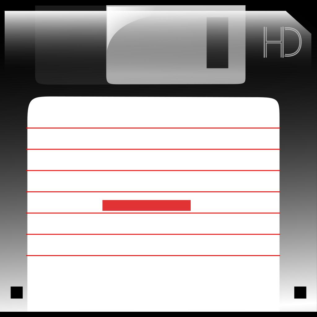 Charlok Floppy Disk SVG Clip arts