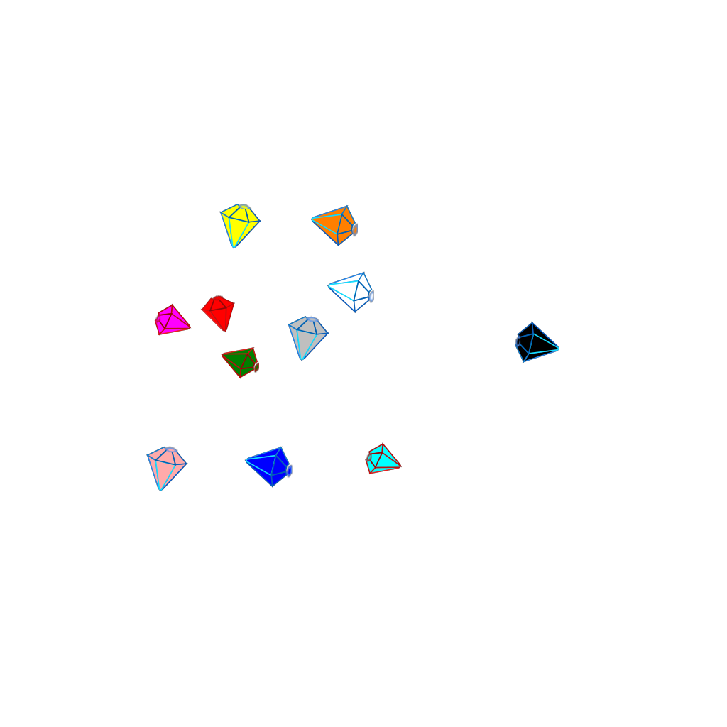 Gems 2 SVG Clip arts