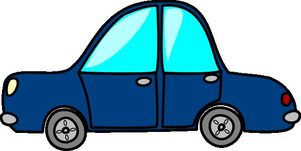 Blue Car3 SVG Clip arts