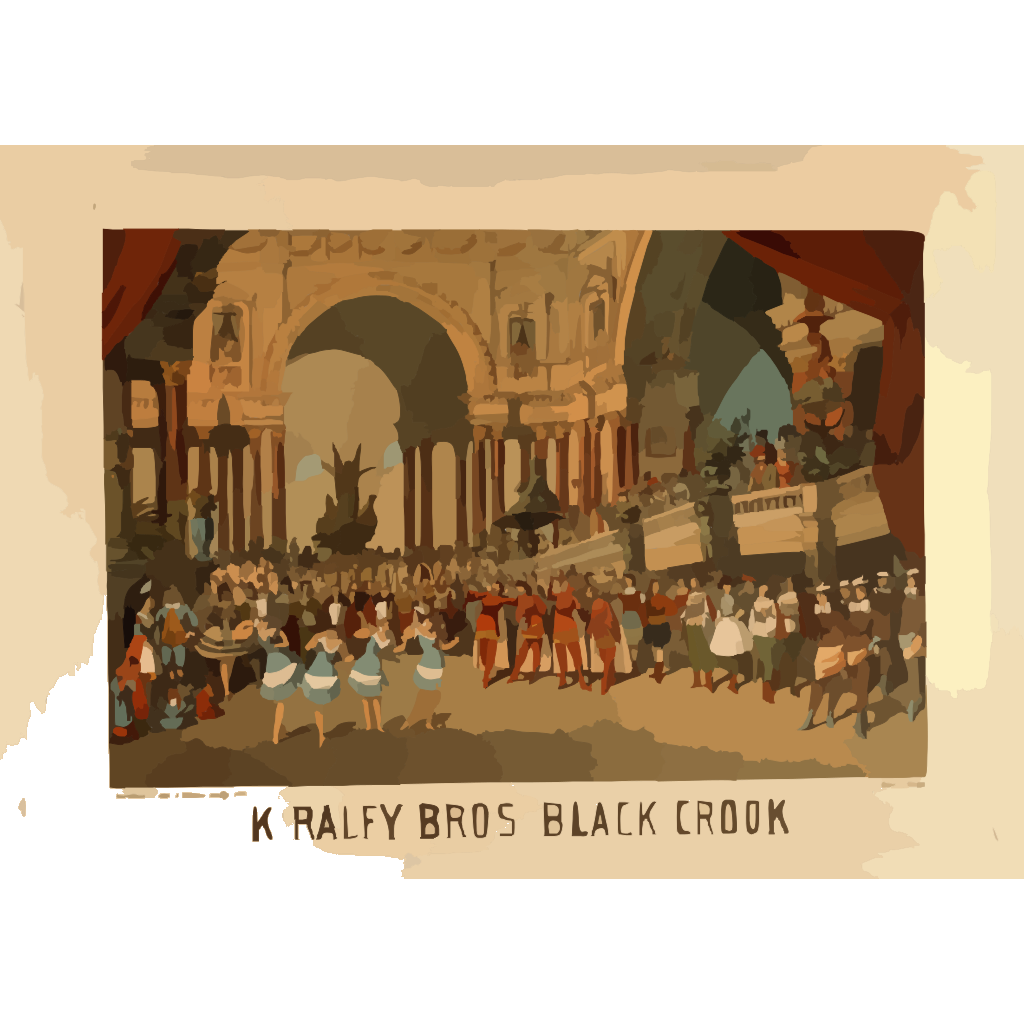 Kiralfy Bros  Black Crook  SVG Clip arts