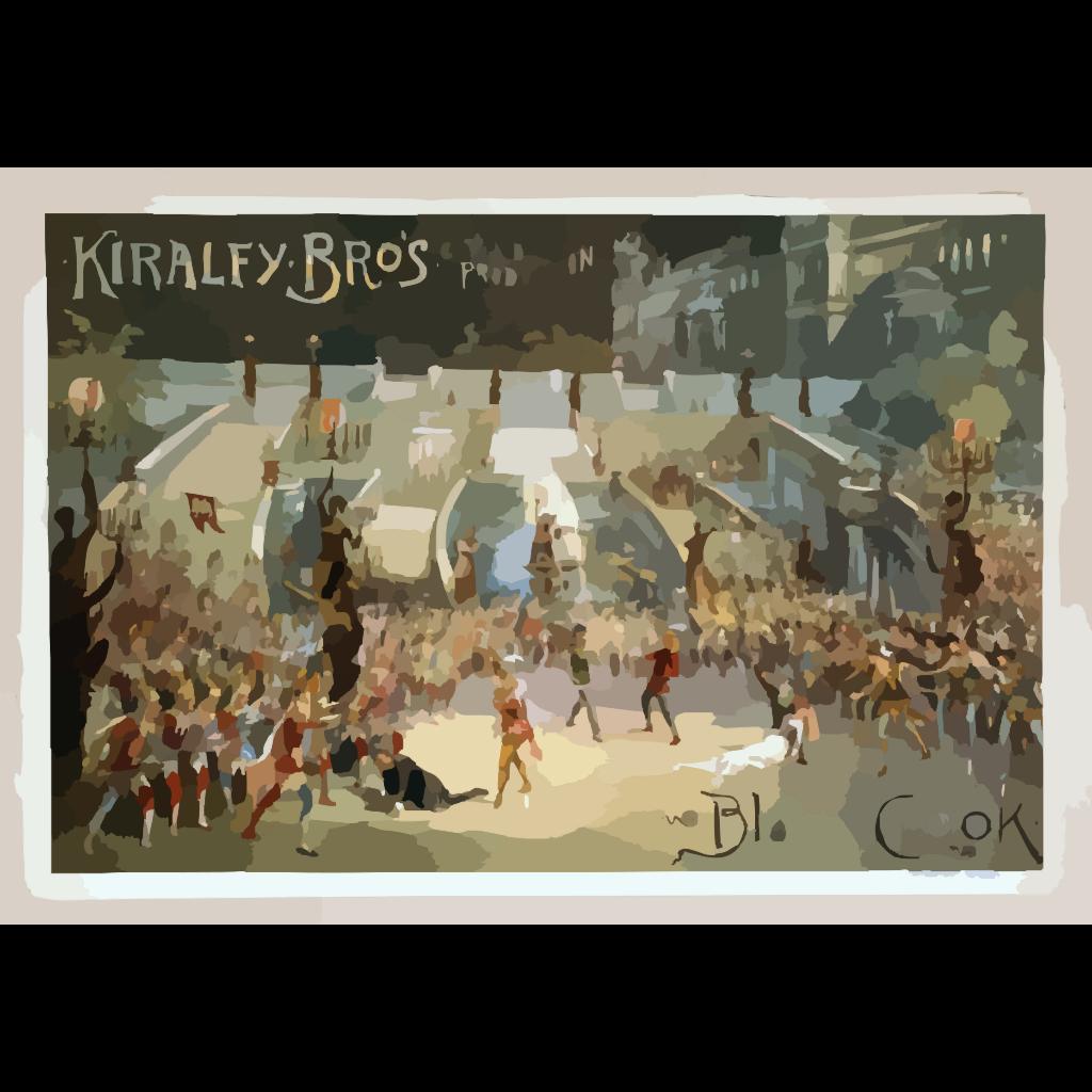 Kiralfy Bros Grand Production, Black Crook SVG Clip arts