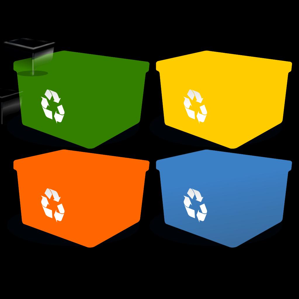 Recycling Box SVG Clip arts