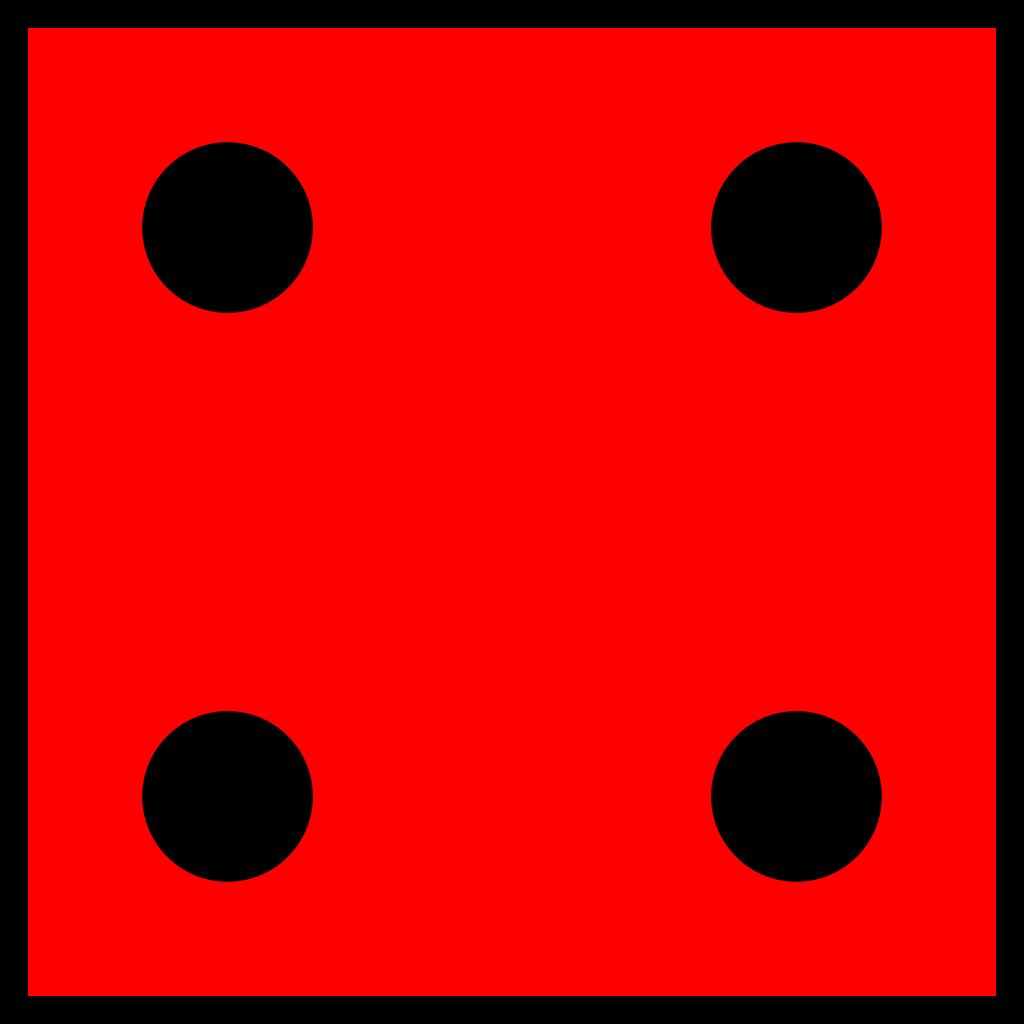 Red Die 4 SVG Clip arts