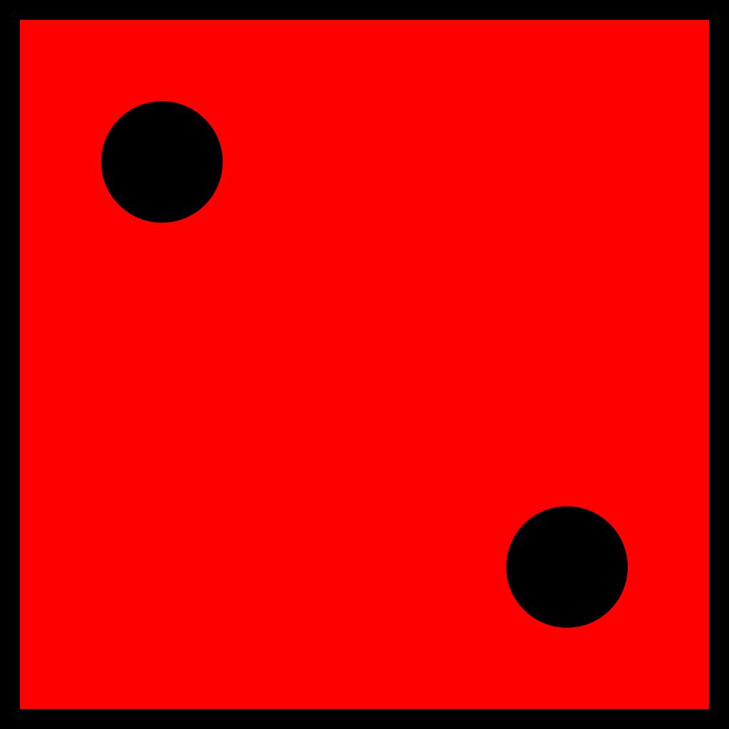 Red Die 2 svg